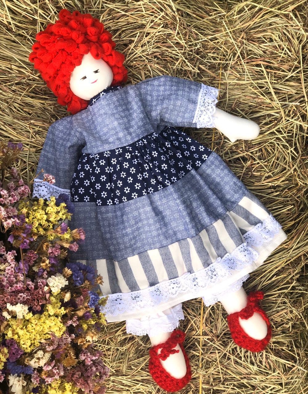 Muñeca Clementina Pelo Rojo